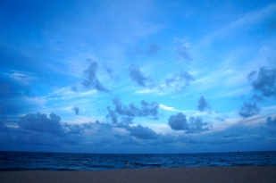 But the clouds painted the sky in every shade of blue.